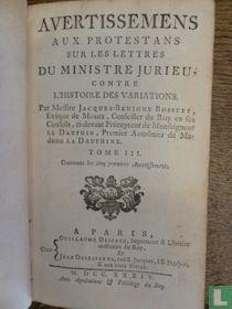 Histoire des variations des eglises protestantes 3