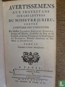 Histoire des variations des eglises protestantes 4