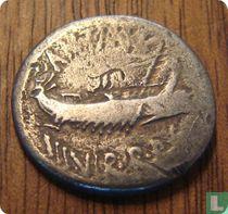 Romeinse Republiek, AR Denarius, 32-31 BC, Marcus Antonius, Argentoratum, Germania Superior