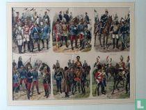 Verzameling van 30 uniformprenten van Richard Knötel