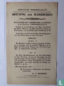 Opening der barrières