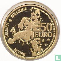 """Belgium 50 euro 2004 (PROOF) """"70th anniversary of King Albert II"""""""