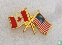 Vlaggen Canada-Verenigde Staten
