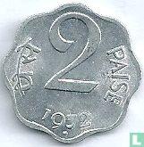 India 2 paise 1972 (Hyderabad)