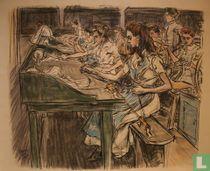 Stearine Kaarsenfabriek Gouda: De Pitpluisters (Wickpickers).
