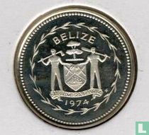 """Belize 1 cent 1974 (PROOF - zilver) """"Swallow-tailed kite"""""""