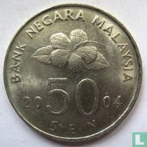 Maleisië 50 sen 2004