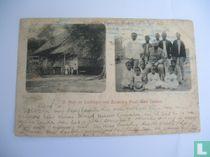 Huis en Leerlingen van Zendeling Maan. Zuid Celebes