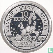 """België 10 euro 2010 (PROOF) """"100 Years of Tervuren African Museum"""""""
