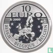 "België 10 euro 2009 (PROOF) ""500 years edition of Erasmus novel - The praise of folly"""