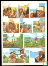 Inkleuring voor pagina indianenreeks