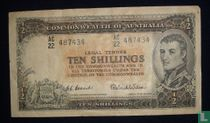 Australië 10 Shillings ND (1954-60)