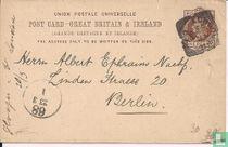 Postkarte von Königin Victoria.