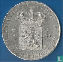 Netherlands 3 guldens 1819