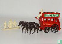 Horse drawn Omnibus 'Lipton's Teas'