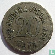 Servië 20 para 1884