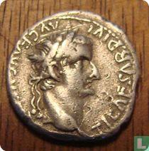 Romeinse Rijk, AR Denarius, 14-37 AD, Tiberius, Lugdunum