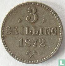 Norwegen 3 Skilling 1872 (Sternen)