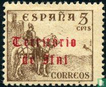 El Cid te paard, met opdruk.