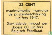 22 cent maximumprijs