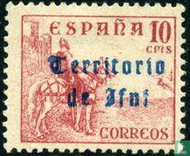 El Cid te paard,met opdruk.