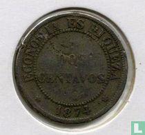 Chili 2 centavos 1874