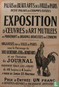 Exposition d'Ouevres d'art mutilées.