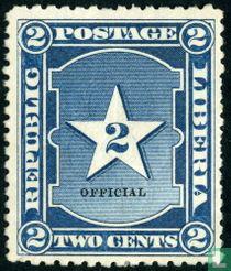 Liberiaanse ster met opdruk