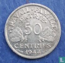 Frankreich 50 Centime 1944 (ohne Buchstaben)