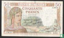 """50 francs """"Cérès"""" 1935"""