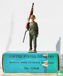 US Infantry Officer with national standard