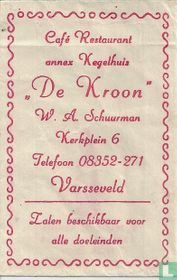 "Café Restaurant annex Kegelhuis ""De Kroon"""