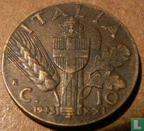 Italien 10 Centesimi 1943