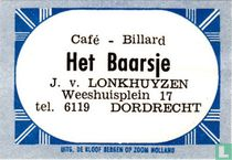 Café Billard Het Baarsje - J. v. Lonkhuyzen