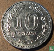 Argentinië 10 centavos 1957