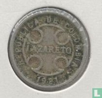 Colombia 2 centavos 1921 Leprosarium