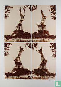 Quatre Tours De Eiffel Juxtaposées