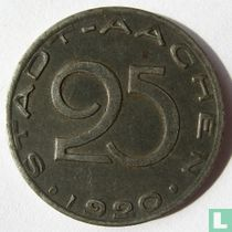 Aachen 25 pfennig 1920 (text against the edge)