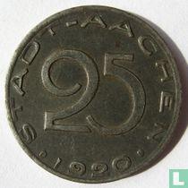 Aachen 25 Pfennig 1920 (Text gegen den Rand)