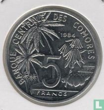 "Comoren 5 francs 1984 ""FAO - World Fisheries Conference"""