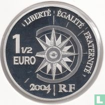"Frankrijk 1½ euro 2004 (PROOF) ""Yellow Cruise"""