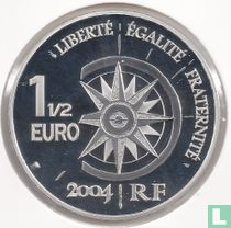 "Frankrijk 1½ euro 2004 (PROOF) ""Transsiberian railroad"""