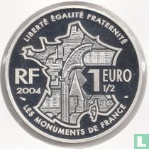 """Frankrijk 1½ euro 2004 (PROOF) """"Avignon and the Palace of the Popes"""""""