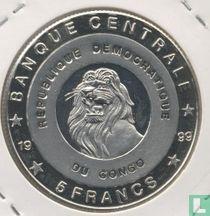 """Congo-Kinshasa 5 francs 1999 (BE) """"King Baudouin"""""""