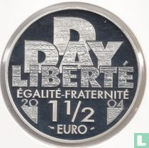 """Frankrijk 1½ euro 2004 (PROOF) """"60th anniversary of the D - Day"""""""