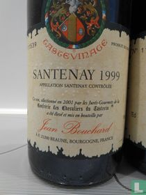 Santenay 1999 tastevinage, Jean Bouchard