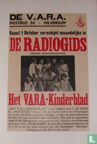 Vanaf 1 october verschijnt maandelijks in de radiogids; Het VARA kinderblad.