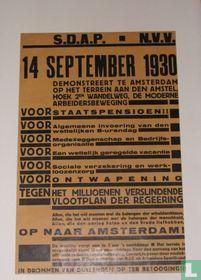 14 september 1930  demonstreert te Amsterdam