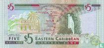East Caribean States 5 dollar ND(1994)