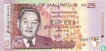 Mauritius 25 Rupees 2009